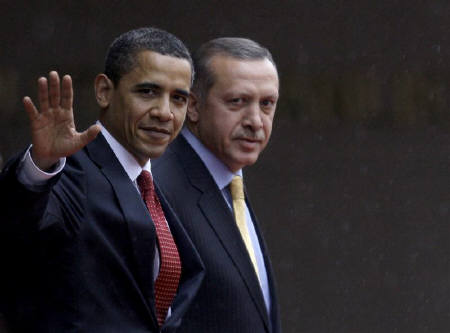 US President Obama with Turkish Prime Minister Erdogan