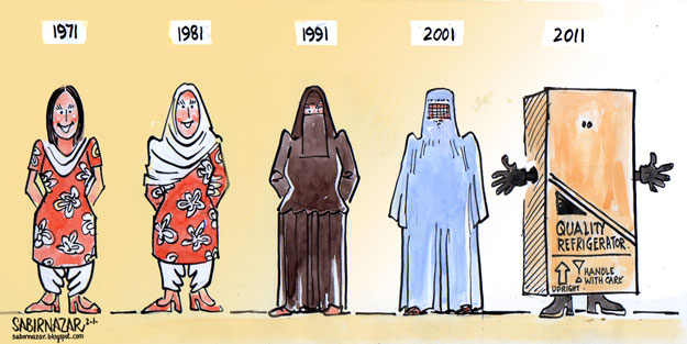 Image result for pakistani society criticism on women cartoon