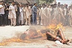 karachi burnt alive